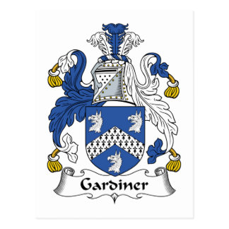 Escudo de la familia de Gardiner Postales