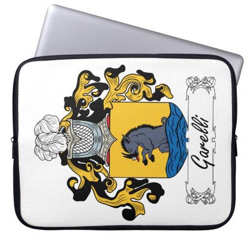 Escudo de la familia de Garelli Fundas Computadoras