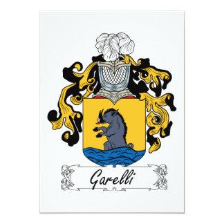 """Escudo de la familia de Garelli Invitación 5"""" X 7"""""""