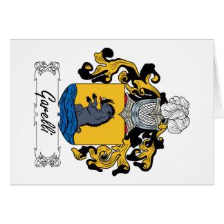 Escudo de la familia de Garelli Tarjeta De Felicitación