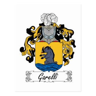 Escudo de la familia de Garelli Tarjeta Postal