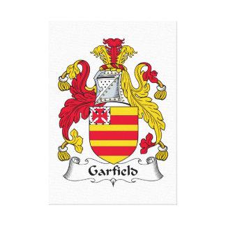 Escudo de la familia de Garfield Lona Envuelta Para Galerias