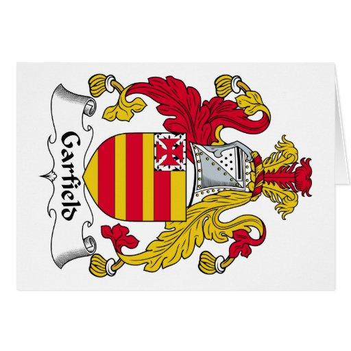 Escudo de la familia de Garfield Tarjeta De Felicitación