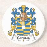 Escudo de la familia de Garneau Posavaso Para Bebida