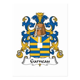 Escudo de la familia de Garneau Tarjetas Postales