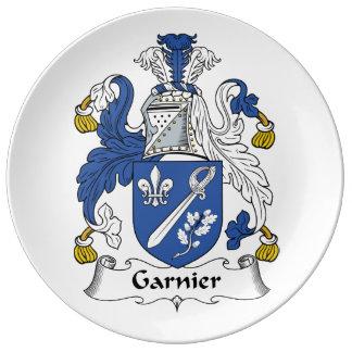 Escudo de la familia de Garnier Platos De Cerámica