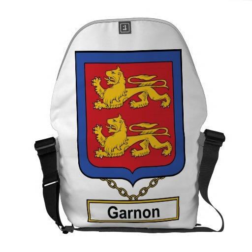 Escudo de la familia de Garnon Bolsa De Mensajeria
