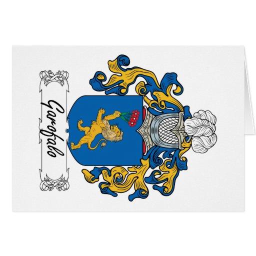 Escudo de la familia de Garofalo Felicitación