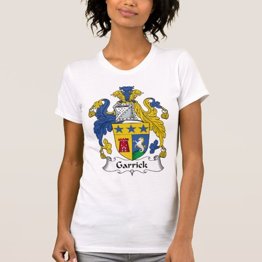 Escudo de la familia de Garrick Camisetas