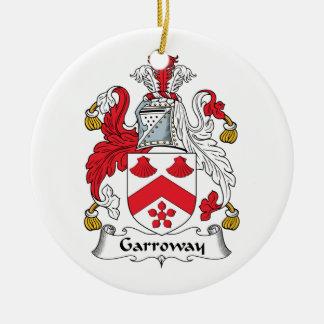 Escudo de la familia de Garroway Adorno Navideño Redondo De Cerámica
