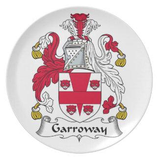 Escudo de la familia de Garroway Plato De Comida