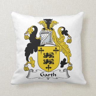 Escudo de la familia de Garth Cojin