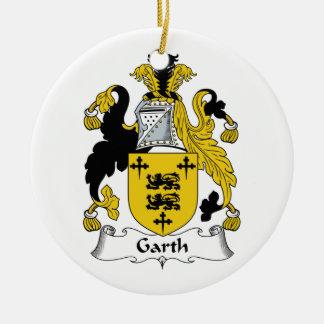 Escudo de la familia de Garth Adornos