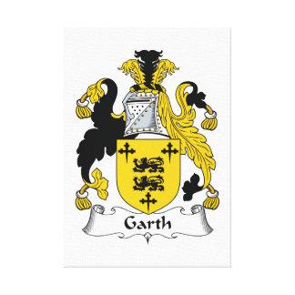 Escudo de la familia de Garth Lienzo Envuelto Para Galerias