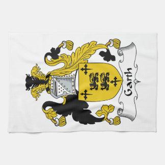 Escudo de la familia de Garth Toalla De Mano