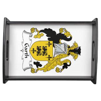 Escudo de la familia de Garth Bandeja