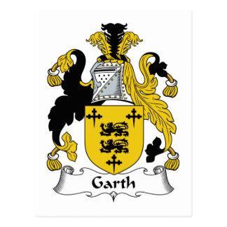 Escudo de la familia de Garth Postales