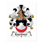 Escudo de la familia de Gartner Postales