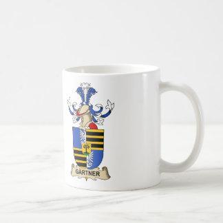 Escudo de la familia de Gärtner Tazas De Café