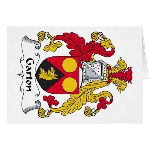 Escudo de la familia de Garton Tarjeta De Felicitación