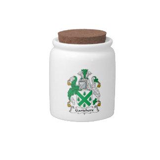 Escudo de la familia de Gartshore Platos Para Caramelos