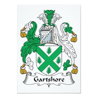 """Escudo de la familia de Gartshore Invitación 5"""" X 7"""""""
