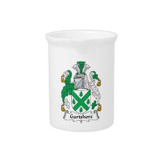 Escudo de la familia de Gartshore Jarras Para Bebida
