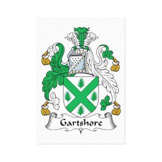 Escudo de la familia de Gartshore Lona Estirada Galerias