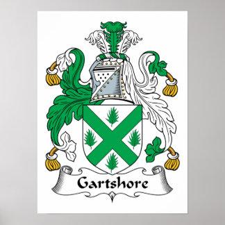 Escudo de la familia de Gartshore Posters