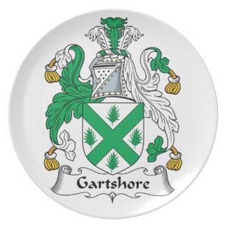 Escudo de la familia de Gartshore Plato De Cena