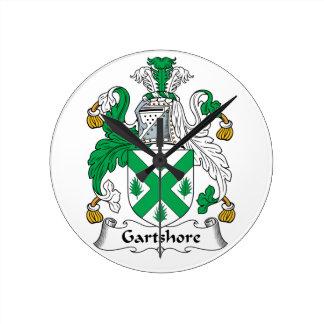 Escudo de la familia de Gartshore Relojes De Pared