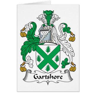 Escudo de la familia de Gartshore Felicitación
