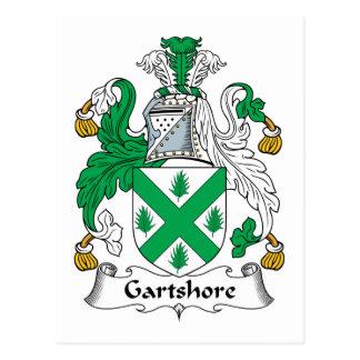 Escudo de la familia de Gartshore Postales