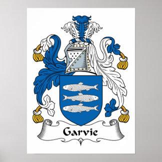 Escudo de la familia de Garvie Póster