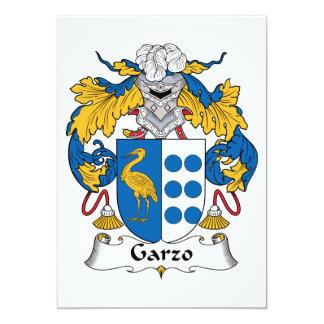 """Escudo de la familia de Garzo Invitación 5"""" X 7"""""""