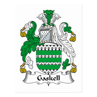Escudo de la familia de Gaskell Tarjetas Postales