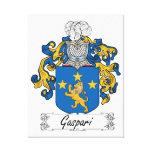 Escudo de la familia de Gaspari Lona Envuelta Para Galerías