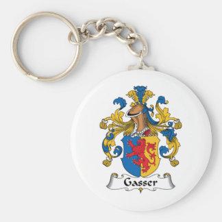 Escudo de la familia de Gasser Llavero Redondo Tipo Pin