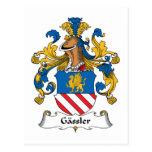Escudo de la familia de Gassler Tarjetas Postales