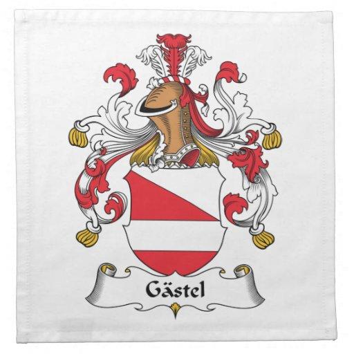 Escudo de la familia de Gastel Servilletas