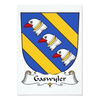 """Escudo de la familia de Gaswyler Invitación 5"""" X 7"""""""