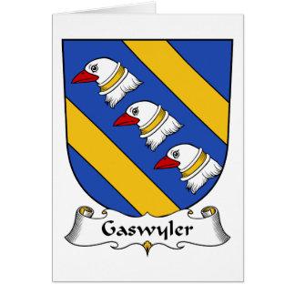 Escudo de la familia de Gaswyler Tarjeta De Felicitación