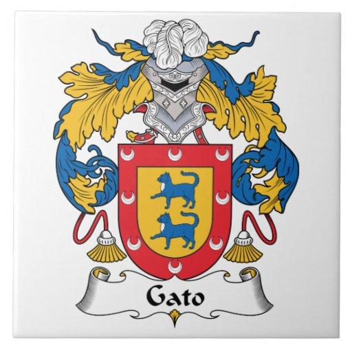 Escudo de la familia de Gato Azulejos