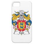 Escudo de la familia de Gato iPhone 5 Case-Mate Coberturas