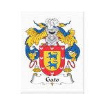 Escudo de la familia de Gato Impresión En Lienzo Estirada