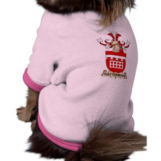 Escudo de la familia de Gattermayr Camiseta Con Mangas Para Perro