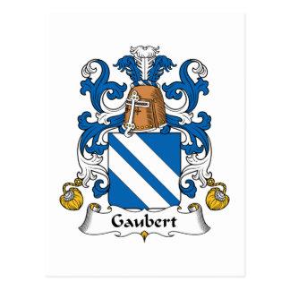 Escudo de la familia de Gaubert Postal