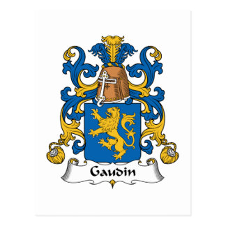 Escudo de la familia de Gaudin Postal