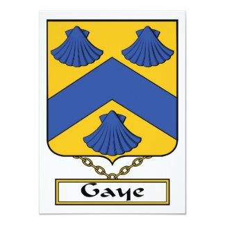 Escudo de la familia de Gaye Comunicado Personalizado