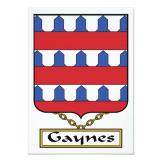 Escudo de la familia de Gaynes Invitación Personalizada